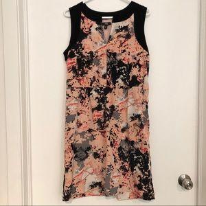 Pink black print dress by Jacob size L